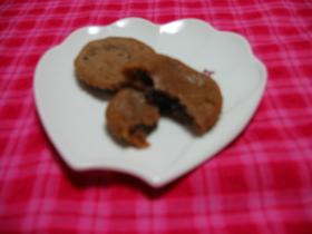 チョコが顔だすフォンダンショコラクッキー