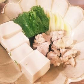 簡単レンジで湯豆腐?温豆腐?温奴?1人鍋
