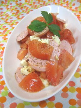 おさかなのソーセージ&トマトのサラダ