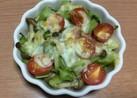 ブロッコリーの茎のチーズ焼き