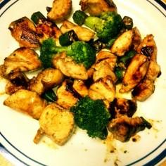 ブロッコリーと鶏肉達