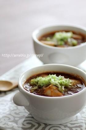 春雨入り葱のピリ辛ごま味噌スープ