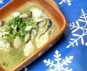 ✿牡蠣の❀スープ煮✿バター醤油味