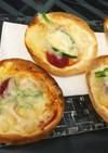 餃子の皮で、パリパリミニピザ