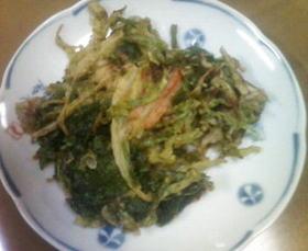 冷蔵庫の残り物でかき揚&天つゆ(≧□≦)