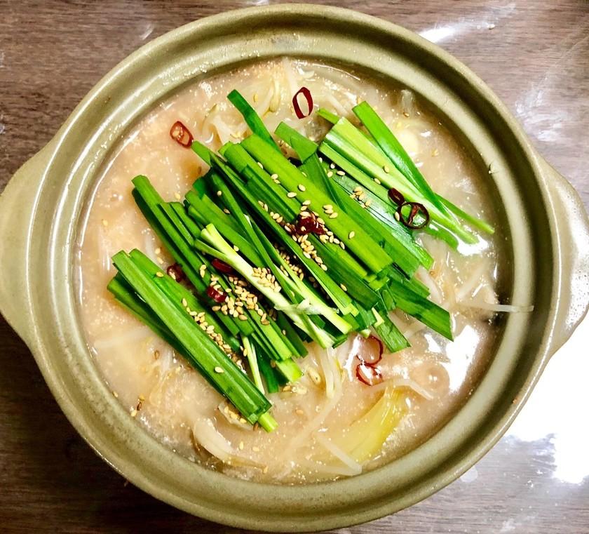 明太子塩ホルモン鍋