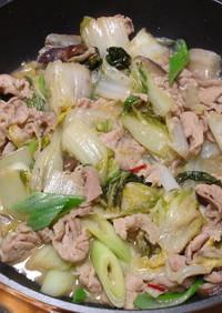 豚肉と白菜の炒め煮_味噌あじ版
