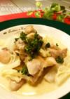 白菜と鶏肉との味噌クリーム煮