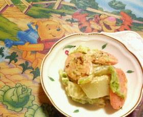 ✿白菜と❀魚肉ソーセージの✿カレマヨ和え