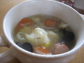 ~。:*残り物満足スープ*:。~
