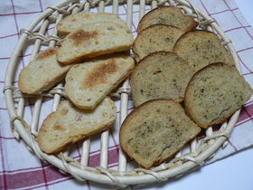 残ったパンで簡単ラスク☆