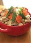もやしでカサ増し!豆腐と鯖缶の中華風鍋