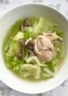 鶏肉とたっぷりキャベツの食べるスープ。