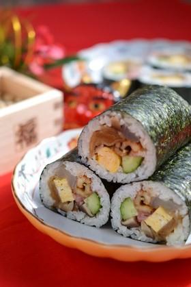海鮮太巻き寿司 恵方巻きにも♪