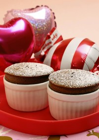 バレンタインで本命に♡チョコレートスフレ