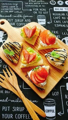簡単可愛い☆オープンパンケーキ。