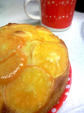 簡単★甘酸っぱいみかんケーキ