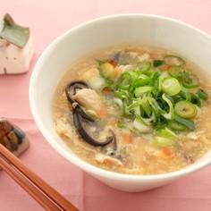 〈薬膳〉豚肉と卵の酸辣湯