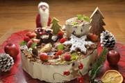 子どもと楽しく★切り株のクリスマスケーキの写真