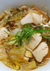節約もやしとネギと白菜 鶏肉のすき焼き風