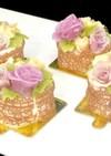 あんフラワーあん(餡子)レース餅ケーキ