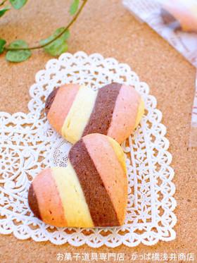 苺&ココアのストライプクッキー