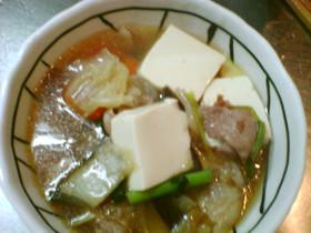 野菜たっぷり!肉豆腐