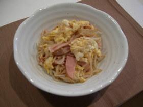 もやしと卵とハムの炒め物
