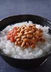 梅肉と納豆のお粥