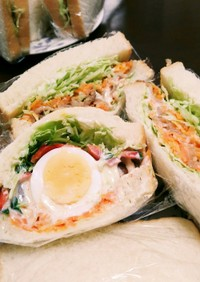 野菜たっぷりボリュームサンドイッチ!!