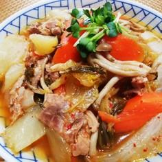 豚肉、大根、ニンジンのキムチ煮