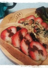 ♡苺とバナナのカカオトースト♡