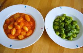 ニョッキ トマトソースとルッコラペース