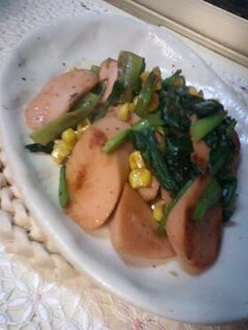 お弁当に♪ソーセージと小松菜のバター炒め