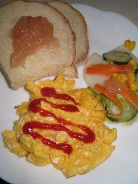 朝食に★いつものスクランブル・エッグ