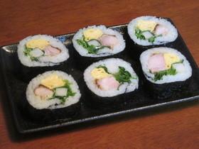鶏もも肉の照り焼きと玉子焼きの巻き寿司