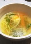 創味シャンタンで野菜スープ