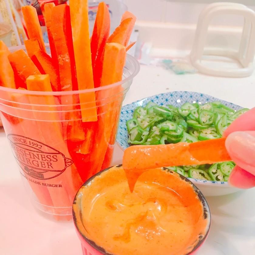 生のにんじんが美味しい野菜ディップソース