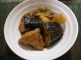 茄子と山芋と鶏肉の甘辛ダレ