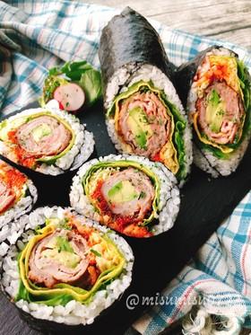 寿司ブリトー!アボカド肉巻き海苔巻き