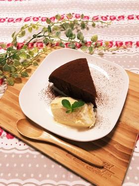 一番簡単炊飯器でチョコレートケーキ