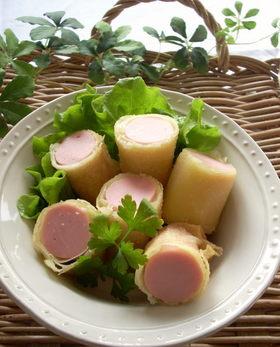 おさかなソーセージのチーズ春巻