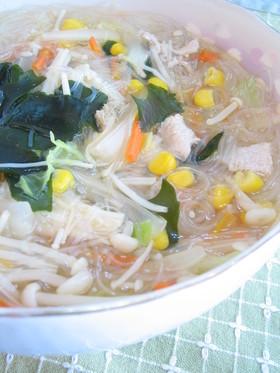 具沢山♪春雨スープ