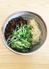 稲庭うどんで作る北京風炸醤麺