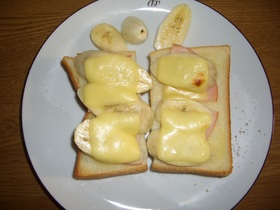 簡単☆バナチーズトースト!!