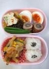 3歳のお弁当、ひとつ鍋小松菜グラタン