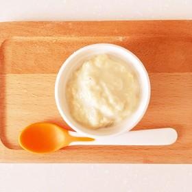 ☆離乳食☆高野豆腐のバナナミルクプリン風