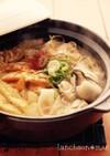 牡蠣のキムチ鍋☆ひらひら大根鍋