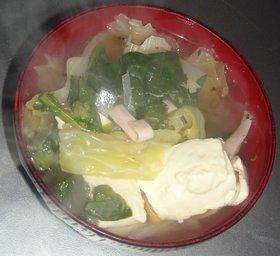 菜花&キャベツ&玉葱&豆腐コンソメスープ