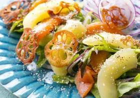 レアフルとスモークサーモンの彩りサラダ